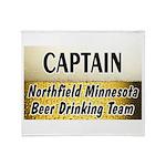 Northfield Beer Drinking Team Throw Blanket