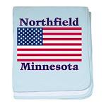 Northfield US Flag baby blanket