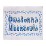 Owatonna Minnesnowta Throw Blanket