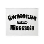 Owatonna Established 1854 Throw Blanket