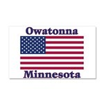 Owatonna US Flag Car Magnet 20 x 12