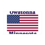 Owatonna US Flag 38.5 x 24.5 Wall Peel