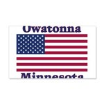 Owatonna US Flag 22x14 Wall Peel