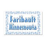 Faribault Minnesnowta Car Magnet 20 x 12