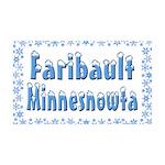 Faribault Minnesnowta 38.5 x 24.5 Wall Peel