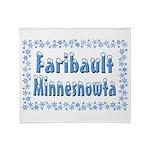 Faribault Minnesnowta Throw Blanket