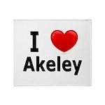 I Love Akeley Throw Blanket
