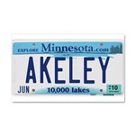 Akeley License Plate Car Magnet 20 x 12
