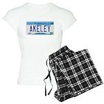 Akeley License Plate Women's Light Pajamas