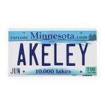Akeley License Plate 38.5 x 24.5 Wall Peel
