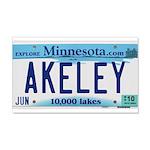 Akeley License Plate 22x14 Wall Peel