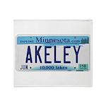 Akeley License Plate Throw Blanket