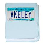 Akeley License Plate baby blanket