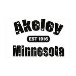Akeley Established 1916 38.5 x 24.5 Wall Peel