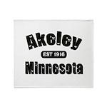 Akeley Established 1916 Throw Blanket