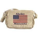 Akeley US Flag Messenger Bag
