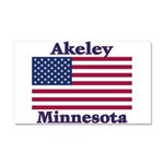 Akeley US Flag Car Magnet 20 x 12