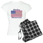 Akeley US Flag Women's Light Pajamas