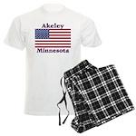 Akeley US Flag Men's Light Pajamas