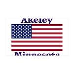 Akeley US Flag 38.5 x 24.5 Wall Peel