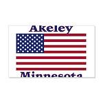 Akeley US Flag 22x14 Wall Peel
