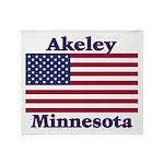 Akeley US Flag Throw Blanket