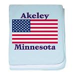 Akeley US Flag baby blanket