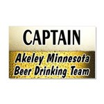 Akeley Beer Drinking Team Car Magnet 20 x 12