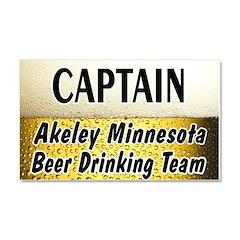 Akeley Beer Drinking Team Car Magnet 20 x 12