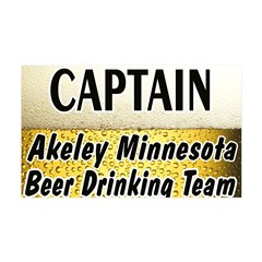 Akeley Beer Drinking Team 38.5 x 24.5 Wall Peel