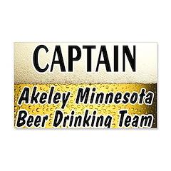 Akeley Beer Drinking Team 22x14 Wall Peel