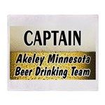 Akeley Beer Drinking Team Throw Blanket