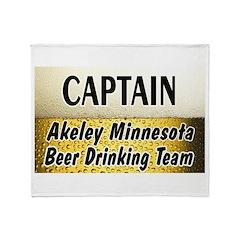 Akeley Beer Drinking Team Throw Blanket