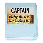 Akeley Beer Drinking Team baby blanket