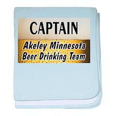 Akeley Beer Drinking Team baby blanket