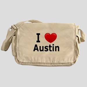 I Love Austin Messenger Bag