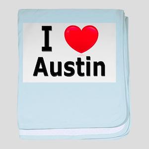 I Love Austin baby blanket