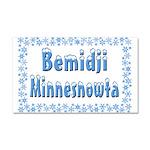 Bemidji Minnesnowta Car Magnet 20 x 12