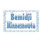 Bemidji Minnesnowta 38.5 x 24.5 Wall Peel
