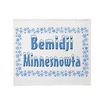 Bemidji Minnesnowta Throw Blanket