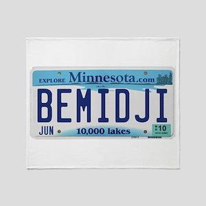 Bemidji License Plate Throw Blanket