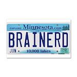 Brainerd License Plate Car Magnet 20 x 12