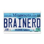 Brainerd License Plate 22x14 Wall Peel