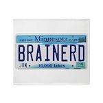 Brainerd License Plate Throw Blanket