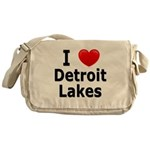 I Love Detroit Lakes Messenger Bag