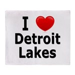 I Love Detroit Lakes Throw Blanket