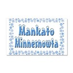 Mankato Minnesnowta Car Magnet 20 x 12