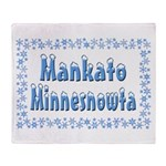 Mankato Minnesnowta Throw Blanket