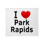 I Love Park Rapids Throw Blanket
