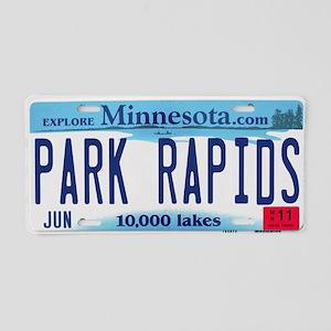 Park Rapids License Plate Aluminum License Plate